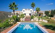 The villa is located on a hilltop at the Monte Mayor Golf and Country Club, Benahavis