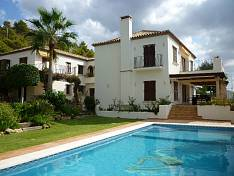 Villa in  SIERRA BLANCA with beautiful mature garden and fruit trees, lovely swimming pool and bbq house
