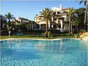 Luxury Beach Side Apartment Marbella with 24 hours security, beautiful gardens ,2 incredible swimming pools  just by the beach