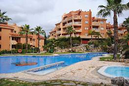 A nice furnished apartment with sea, garden and pool views